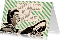 Geslaagd kaarten - Vintage Rijbewijs