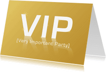 Uitnodigingen - VIP Very Important Party GLANS