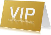 Uitnodigingen - VIP Very Important Party GLANS