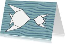 Dierenkaarten - vissen blauw