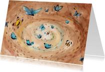 Dierenkaarten - Vlinders in je buik