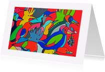 Kunstkaarten - Vogels C. Hup, Witrand - AW