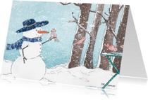 Zomaar kaarten - Vogeltjes in Januari