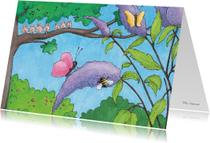 Zomaar kaarten - Vogeltjes in juni