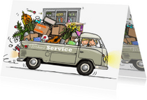 Verhuiskaarten - Volkswagen pickup verhuiskaart