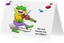 Beterschapskaarten - Vrolijk opkikkertje die met een viool speelt