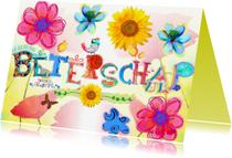 Beterschapskaarten - Vrolijke beterschaps letters