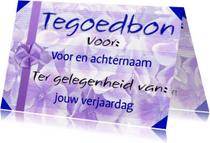 Kaarten mailing - Waardebon Tegoedbon 10 euro