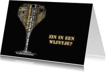 Uitnodigingen - Wijntje samen doen?