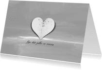 Rouwkaarten - Wit Hart Bedankt - JD