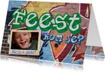 Kinderfeestjes - YVON feest graffiti muur man jongen