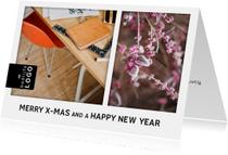 Zakelijke kerstkaarten - Zakelijke kerstkaart met foto's en logo bedrijf
