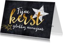 Zakelijke kerstkaarten - Zakelijke kerstkaart sierlijke tekst en sterren