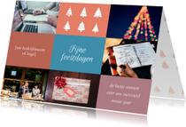 Zakelijke kerstkaarten - Zakelijke kerstkaart vlakken foto's
