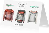 Zakelijke kerstkaarten - Zakelijke kerstkaart warm wishes met logo