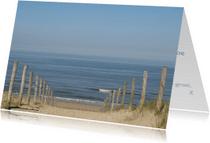 Condoleancekaarten - Zicht op zee vanaf een duinopgang