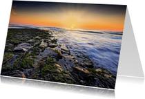 Zomaar kaarten - Zonsondergang langs de Noordzee