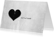 Condoleancekaarten - Zwart Hart 20130006
