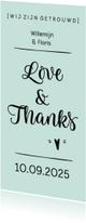 Trouwkaarten - Bedankkaart huwelijk modern foto langwerpig