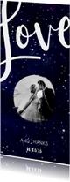 Trouwkaarten - Bedankkaart 'LOVE' Galaxy