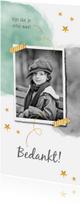 Communiekaarten - Bedankkaartje Lentefeest of Communie met waterverf en goud