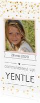Communiekaarten - Communie confetti girl