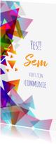 Communiekaarten - Communie kleurige driehoeken