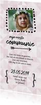 Communie - uitnodiging foto langwerpig