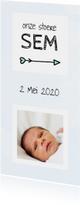 Geboortekaartjes - Geboorte beschuitklok voor een jongen aquarel