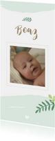 Geboortekaartjes - Geboorte - Botanisch met foto
