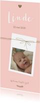 Geboortekaartjes - Geboorte - Foto met lijnen, meisje
