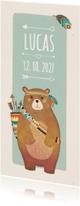 Geboortekaartjes - Geboorte indiaan beer langwerpig - BK