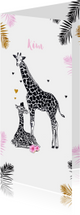Geboortekaartjes - Geboorte meisje giraffe moeder