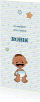 Geboortekaartjes - Geboortekaart adoptie jongen