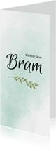 Geboortekaartjes - Geboortekaart groen watercolor