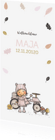 Geboortekaartjes - Geboortekaart herfstmeisje av
