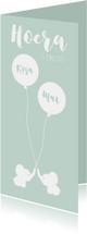 Geboortekaartjes - Geboortekaart Olli mint