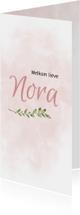 Geboortekaartjes - Geboortekaart roze watercolor
