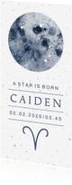 Geboortekaartjes - Geboortekaartje A star is Born, sterrenbeeld Ram