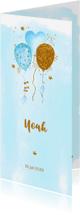 Geboortekaartjes - Geboortekaartje aquarel ballonnen jongen
