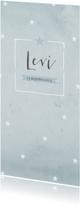 Geboortekaartjes - Geboortekaartje aquarel blauwe sterren - BC