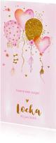 Geboortekaartjes - Geboortekaartje aquarel Sophia