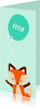 Geboortekaartjes - Geboortekaartje baby vos