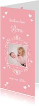 Geboortekaartjes - Geboortekaartje fotolijstje meisje