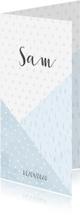 Geboortekaartjes - Geboortekaartje geometrische vormen en confetti jongen