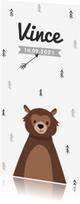 Geboortekaartjes - Geboortekaartje hip en stoer met beer
