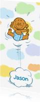 Geboortekaartjes - Geboortekaartje jongen - in de wolken - A