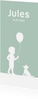 Geboortekaartjes - Geboortekaartje jongen simpel met silhouetjes