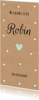Geboortekaartjes - Geboortekaartje kraft hartjes jongen - LB