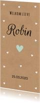Geboortekaartjes - Geboortekaartje kraft hartjes jongen